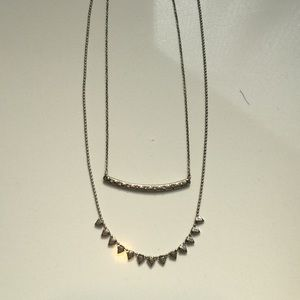 Jewelry - Silver duo chain necklace